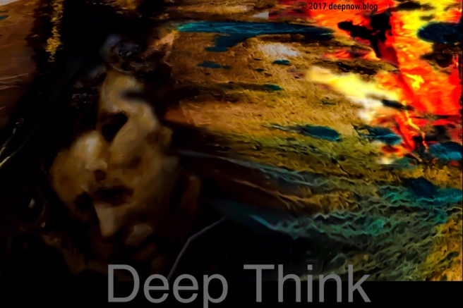 Organic Abstract/Realist morph of deep thinking