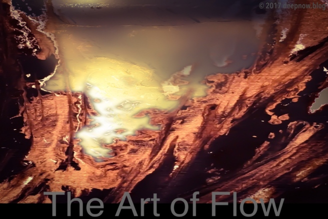 Organic abstract of flow experience
